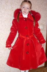 Пальто зима-осень для девочки 7-9 лет