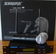 Радиосистема Shure SM 58  2 радиомикрофона