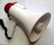 HQ-108 мегафон переносной,  ручной громкоговоритель,  рупор на аккумулят