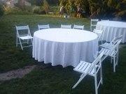 Аренда стульев и столов недорого. Прокат мебели на свадьбу,  выпускной,
