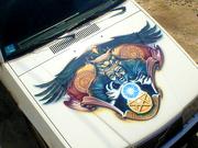 АЭРОГРАФИЯ (художественная роспись машин,  мотоциклов,  шлемов и прочее)