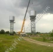 Водонапорные башни на опорах,  стержнях изготовление и монтаж в Украине