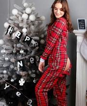 Очень теплая пижама-комбинезон. Шикарный подарок девушке!