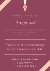 Курс Ассистент Монтессори педагога класс 3-6