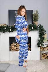 Зимняя пижама с карманом на попе! Дарите любимым тепло!